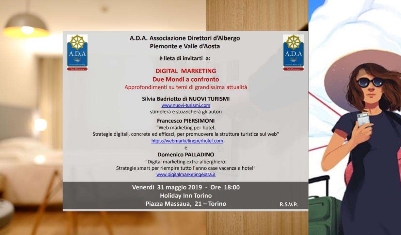 Incontro Torino 31 maggio Digital Marketing ospitalità