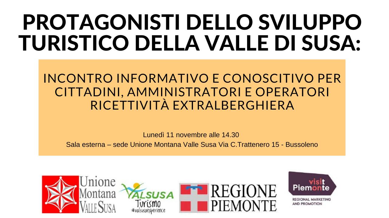 Incotro informativo sulla ricettività extraalberghiera - Val Susa Turismo